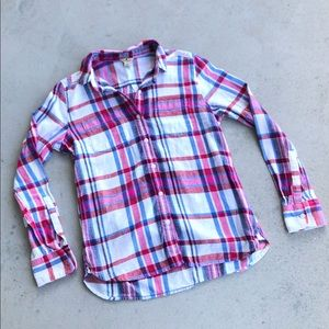 Woolrich Plaid Button Down 100% Cotton Flannel